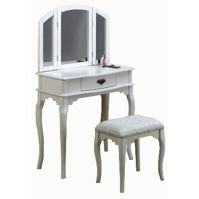 Awesome Pure White Vanity Set