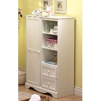 3580038 Pure White Armoire with Drawers - Savannah