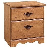 3232060 County Pine 2-Drawer Nightstand - Prairie