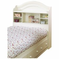 3210098 White Twin Bookcase Headboard - Summer Breeze