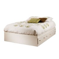 3210211 White Full Size Mates Storage Bed with 3 Drawers (54 Inch) - Summer Breeze
