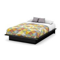 3070234 Black Full Platform Bed (54 Inch) - Step One