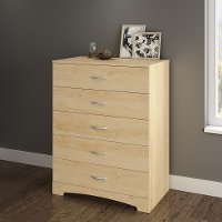 3113035 Natural Maple 5-Drawer Chest - Step One