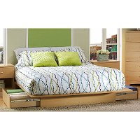 3013217 Natural Maple Queen Platform Bed - Step One