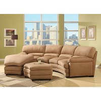 Mocha Microfiber 2 Piece Sectional Rc Willey Furniture Store
