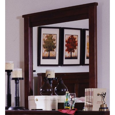 Diego Espresso Brown Classic Contemporary Mirror