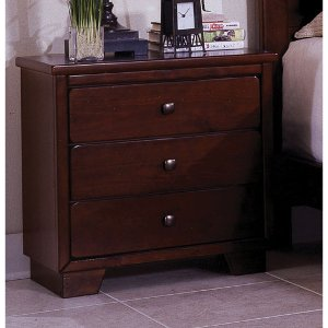 heritage antique white diego espresso brown classic nightstand