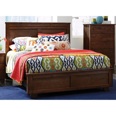Classic Brown Queen Bed - Diego