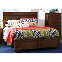 Espresso Brown Classic Contemporary Queen Bed - Diego