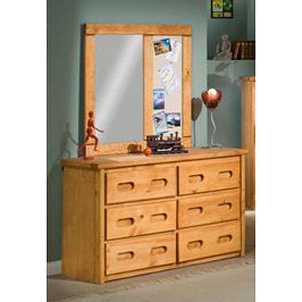 ... Palomino Cinnamon Rustic 6 Drawer Dresser