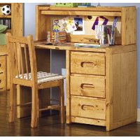 Palomino Cinnamon Rustic 3-Drawer Desk