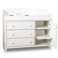 3250333 White Changing Table - Cotton Candy