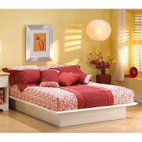 3050233 Contemporary White Queen Platform Bed - Step One