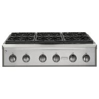 ZGU366NPSS GE Monogram 36 Inch Professional Gas Rangetop with 6 Burners (Natural Gas)