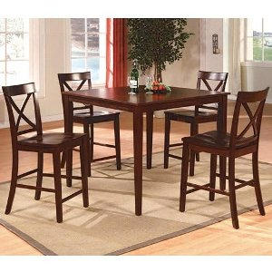 ... 5 Piece Counter Height Dining Set   Transitional Theodore Espresso