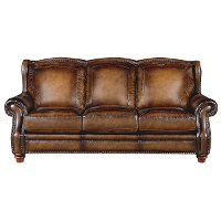 84 Brown Leather Sofa RC Willey Furniture Store