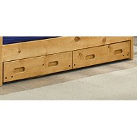Cinnamon Rustic Under-bed Storage Drawers - Palomino