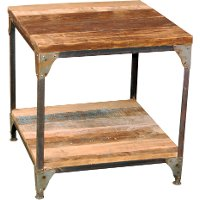 Rustic Light Brown End Table - Manchester