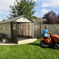 60025 Lifetime Products 11' x 18.5' Carriage Door Garage Shed