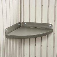 0110 Lifetime Products 2 Piece Corner Shelf Kit for 8 ft. Wide Sheds