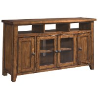 62 Inch Saddle Brown TV Stand - Cross Country