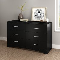3107010 Black Double Dresser - Step One