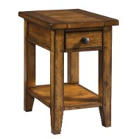 Cross Country Saddle Brown Chair Side Table