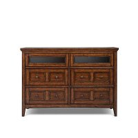 Harrison Cherry Casual Traditional TV Chest of Drawers