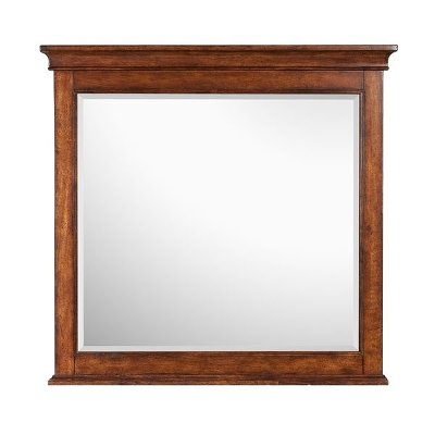 Harrison Cherry Casual Traditional Mirror
