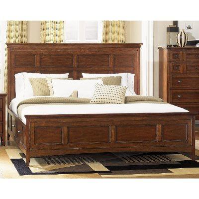 Casual Traditional Cherry Queen Storage Bed - Harrison