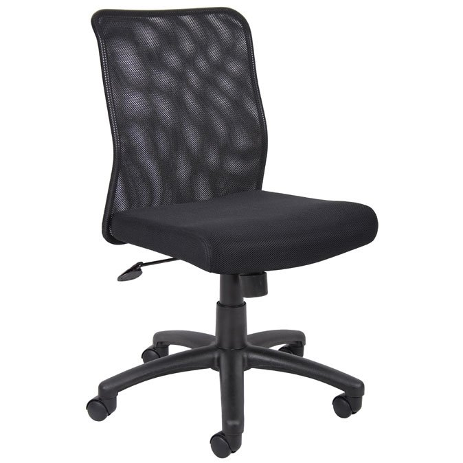 Black Mesh-Back Office Chair
