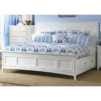 Classic White Queen Storage Bed - Kentwood
