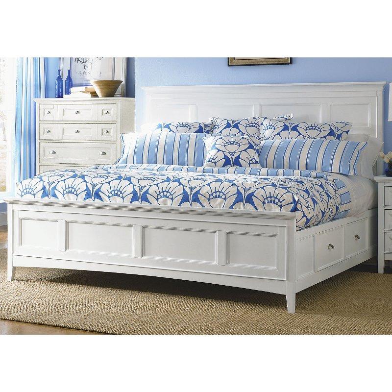 Clic White Queen Storage Bed