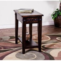Santa Fe Brown Side Table