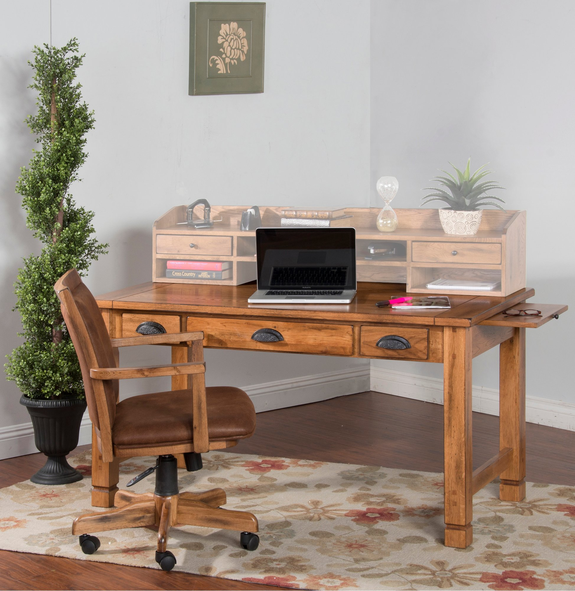 Rustic Light Brown Small Computer Desk  Sedona