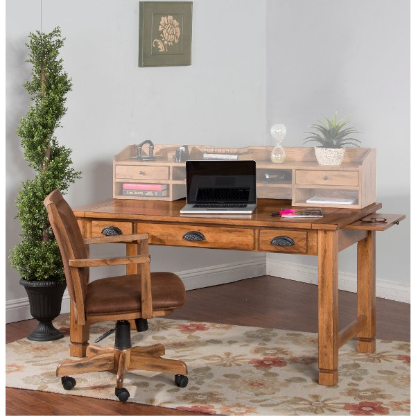 Delta Office Writing Desk Walnut Brown Products T Desk