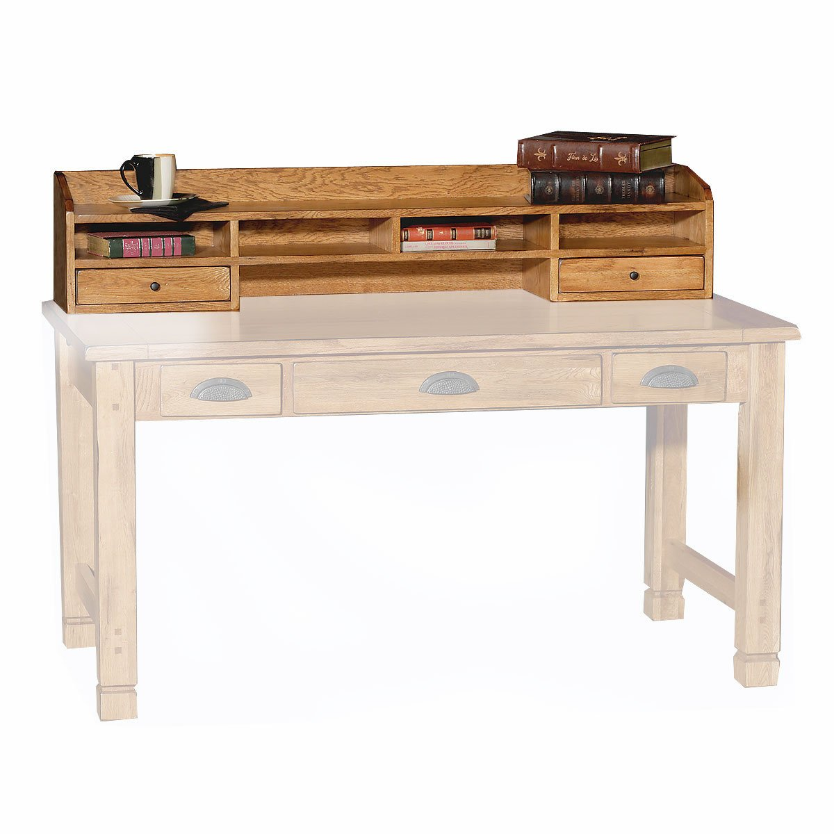 Sunny Designs Oak Desk Hutch Vineyard Collection