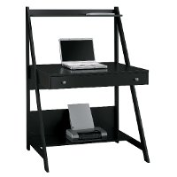 Black Wood Ladder Desk - Alamosa