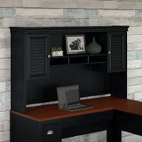 Black Hutch for L Shaped Desk - Fairview