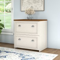 Antique Whtie 2-Drawer Lateral File Cabinet - Fairview
