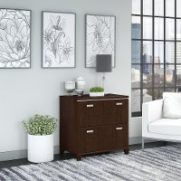 Mocha Cherry 2 Drawer Lateral File - Tuxedo