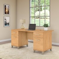 Maple Cross Office Desk (60 Inch) - Somerset