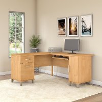 Maple Cross 60W L-Desk - Somerset