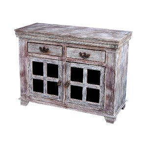 good earth reclaimed wood 8 glass panel sideboard
