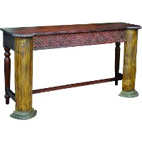 Maharaja pillar console table rc willey furniture store for Sofa table rc willey