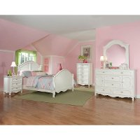 Adrian White Classic 4 Piece Twin Bedroom Set