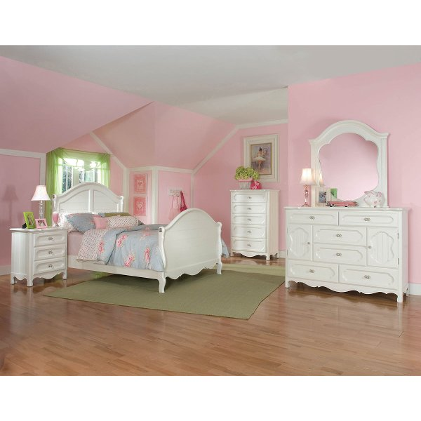... Adrian White Classic 6 Piece Twin Bedroom Set