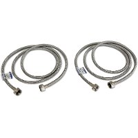 6 Foot Stainless Steel Washer Hose Kit