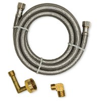 30-289WP-DS-INSTKIT Dishwasher Install Kit with 6 foot braided line, 3/8  compression Elbow