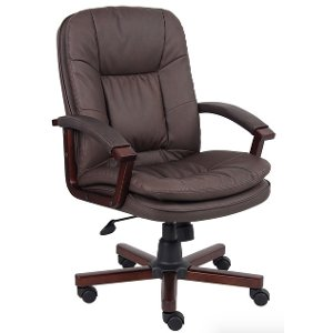 bomber brown executive office chair